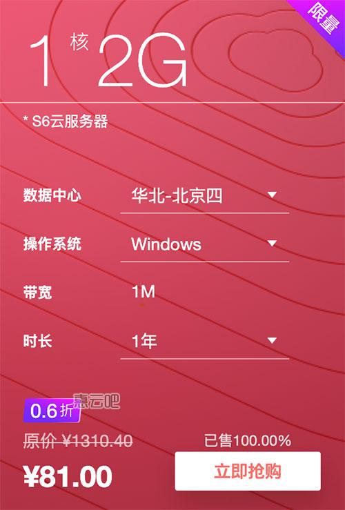 华为云服务器优惠81元